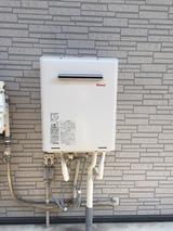 稲城市のテラスハウス 給湯器交換
